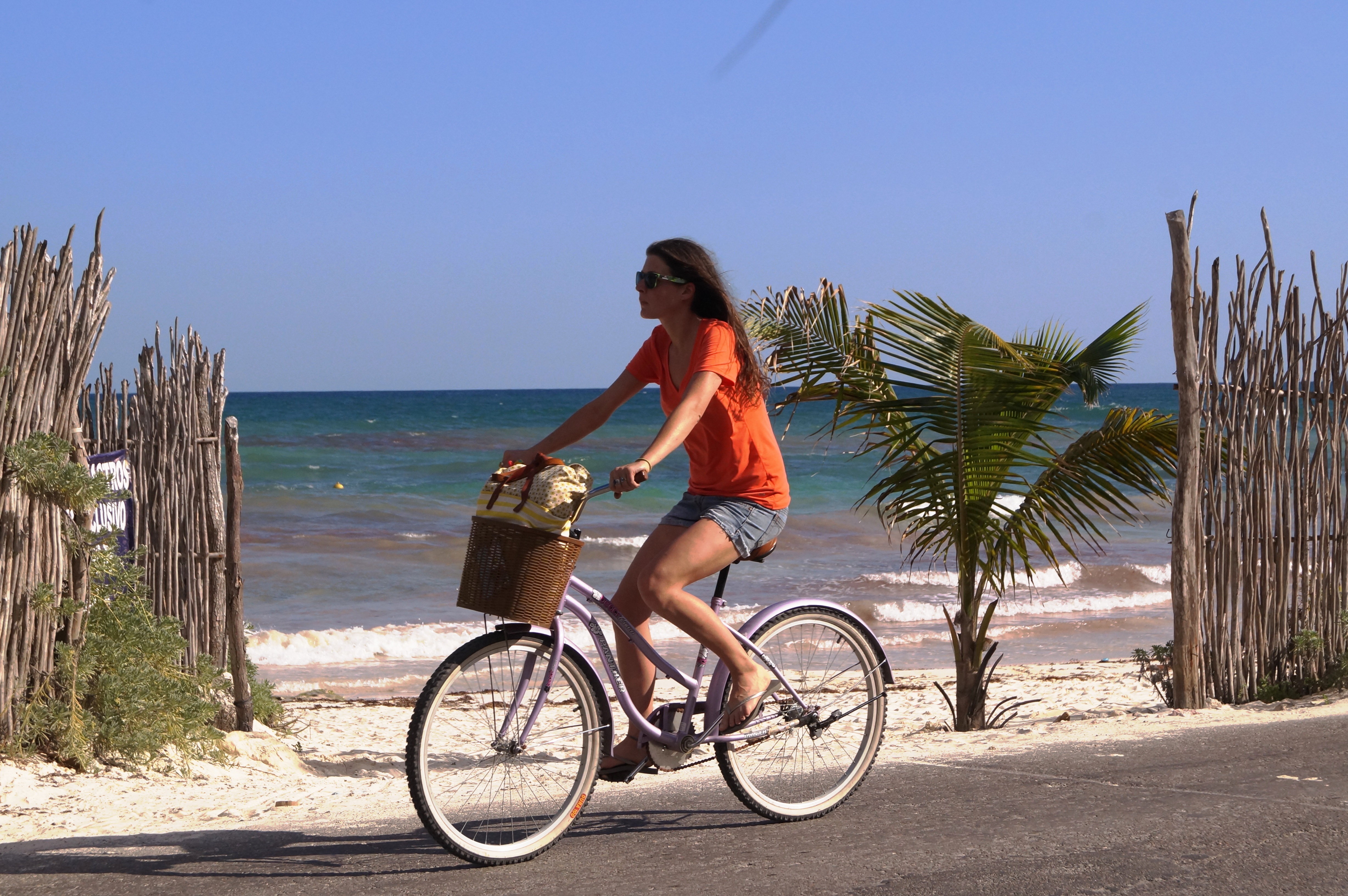 Tulum, bike, sea, Mexico
