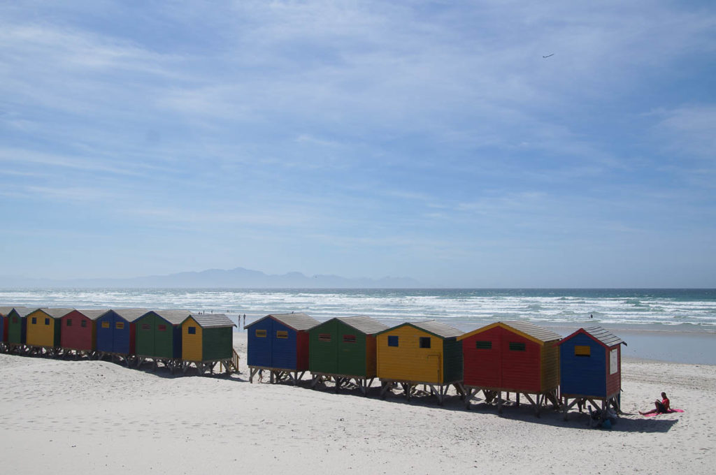 colourful Edwardian Beach Houses Muizenberg