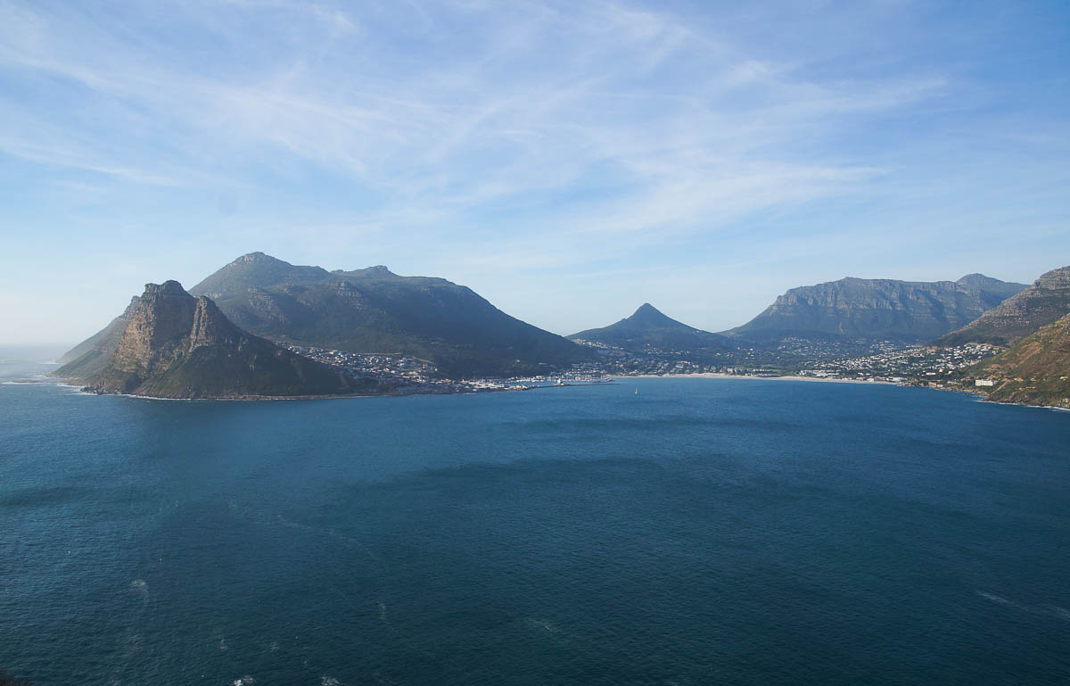 view on Hout Bay from Chapmans Peak