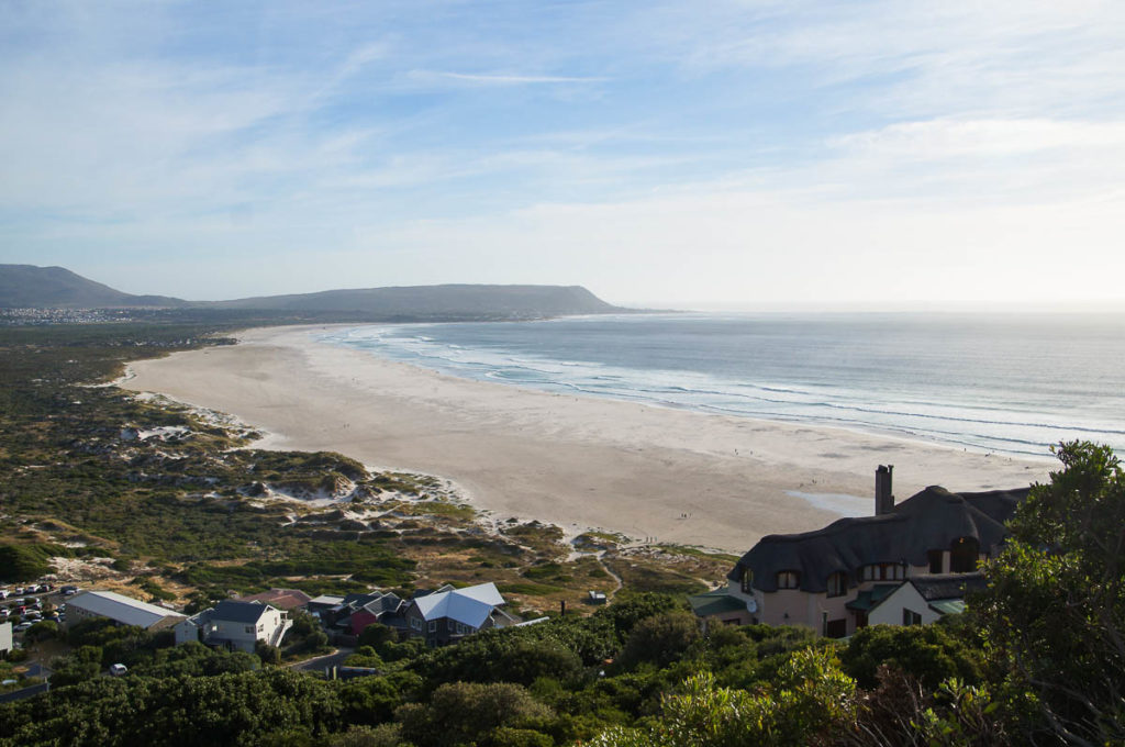 view over Noordhoek bay