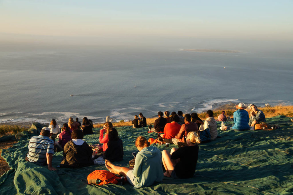 people at sundowner on signal hill