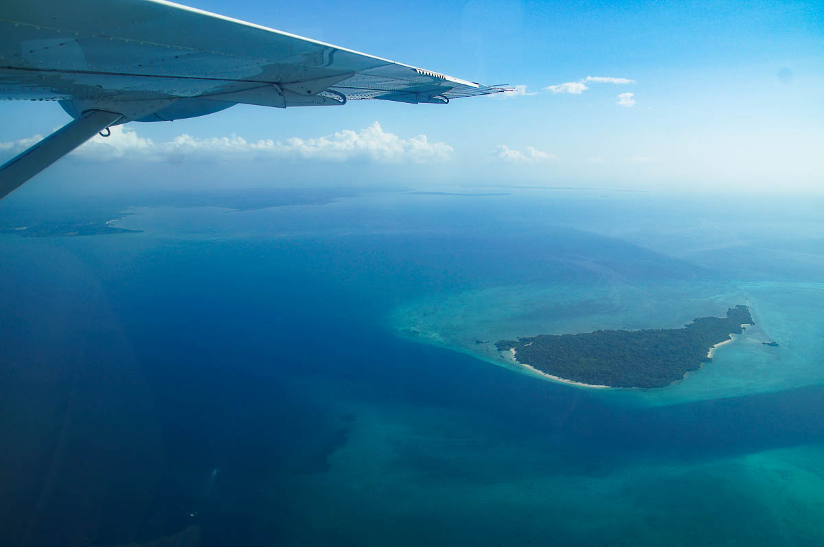Zanzibar from above flying AuricAir