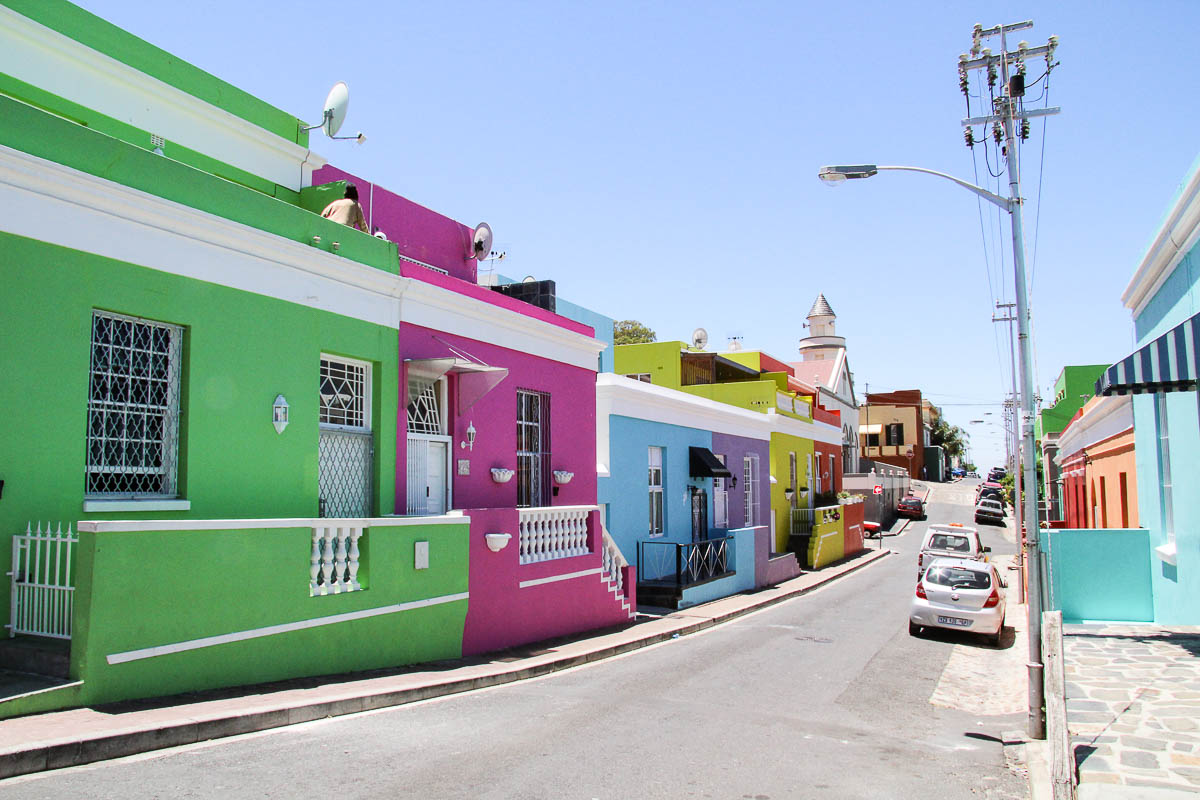 colourful houses in bokaap capetown