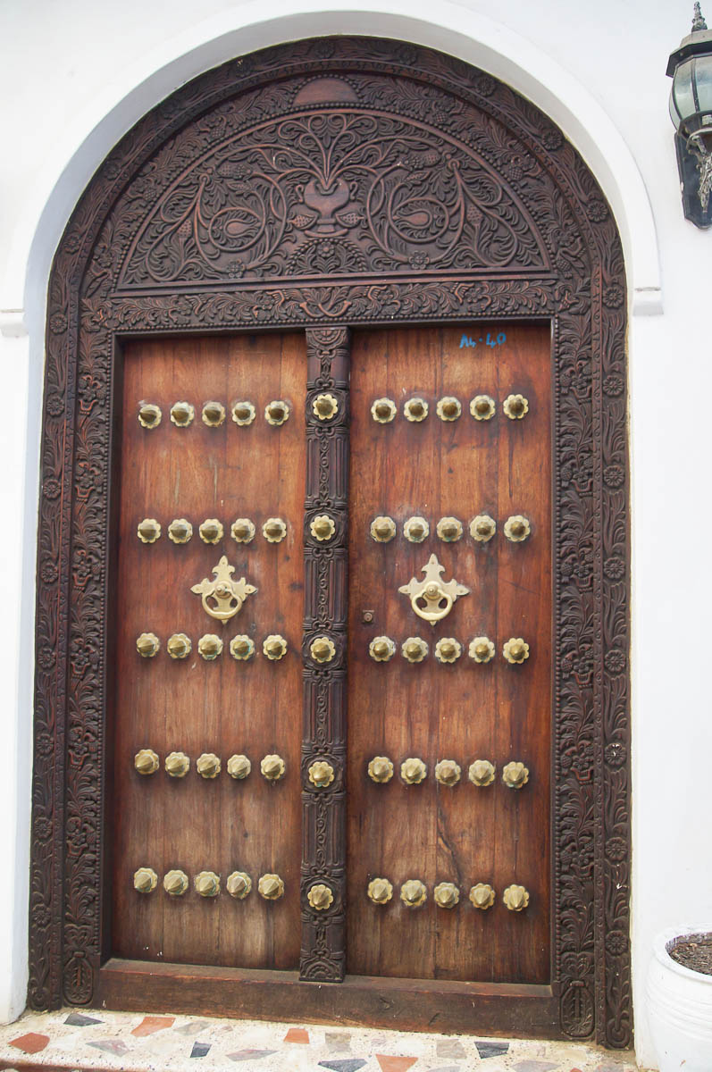 impressive huge door in stonetown