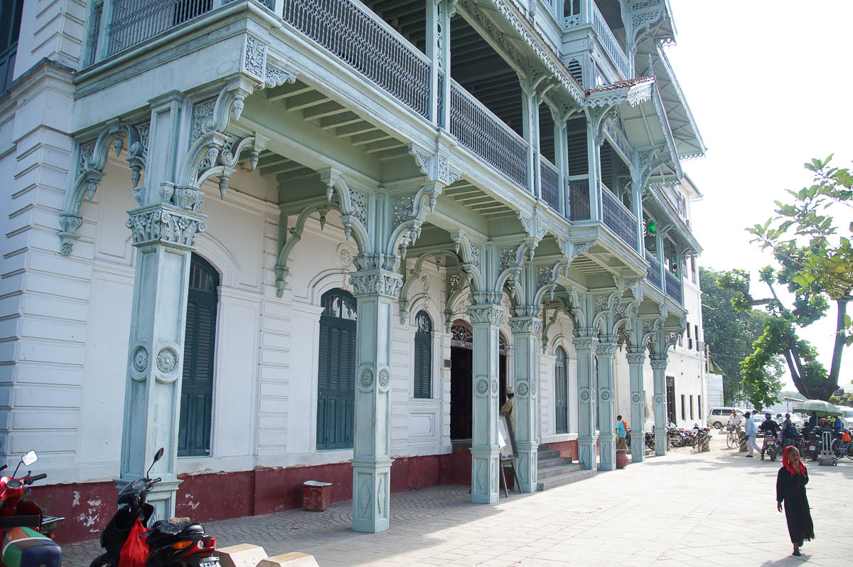 old restored building in Stonetown