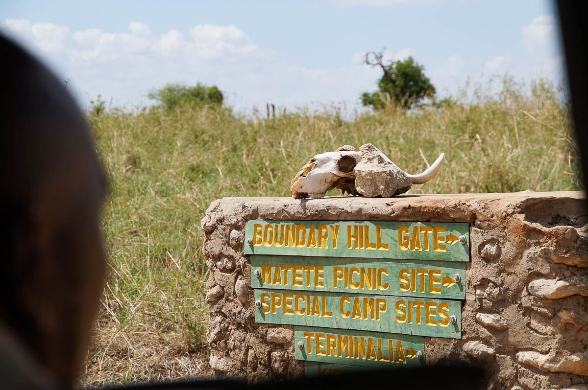 road sign in Tarangire Nationalpark